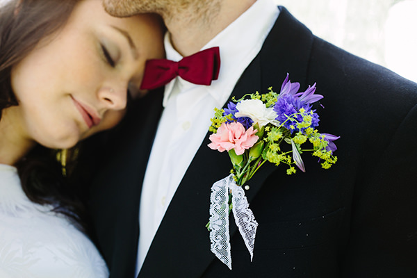 Buttonhole Lace Flowers Groom Colourful Outdoor Blooms Ribbons Wedding Ideas http://www.paperangelphotography.co.uk/