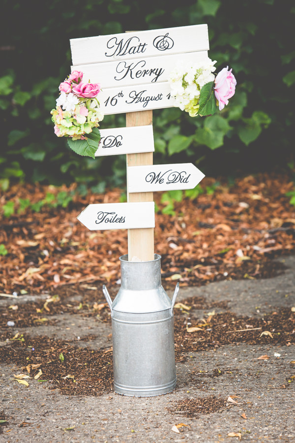 Shabby Chic Calligraphy Sign Vintage Tea Party Tipi Wedding