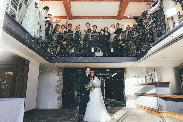 Confetti Whimsical Green White Fairy Lights Winter Wedding http://jesspetrie.com/