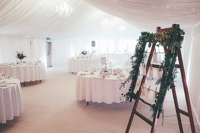 Marquee Whimsical Green White Fairy Lights Winter Wedding http://jesspetrie.com/