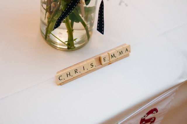 Scrabble Place Name Eclectic Vintage Music Party Wedding http://www.theretreat.co/
