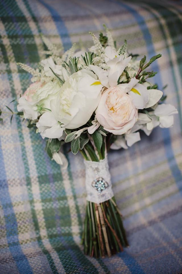 White Ivory Cream Peony Bouquet Flowers Bride Bridal Country Chic Sage Green Marquee Wedding http://www.lolarosephotography.com/