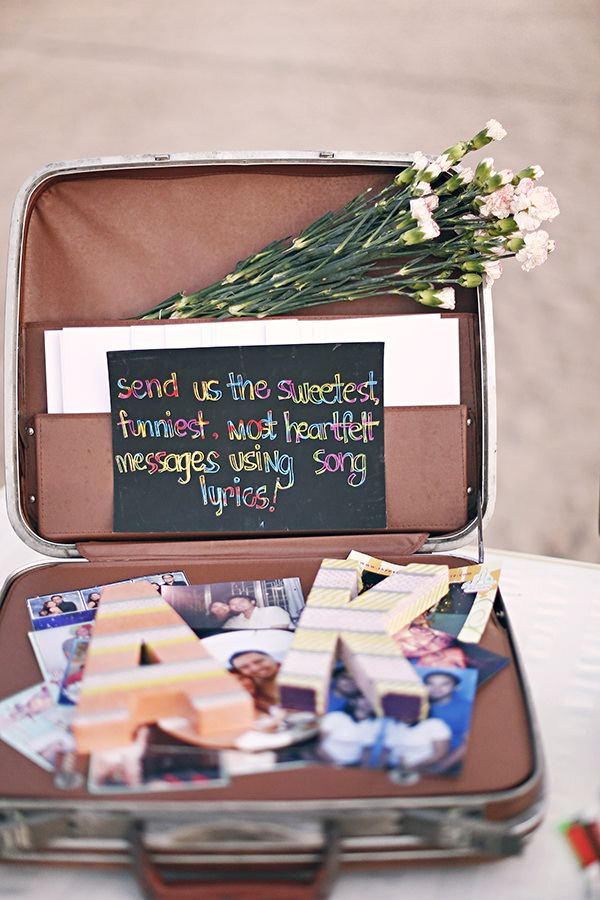 Suitcase Guest Book Coachella Inspired Philippines Wedding http://wedoitforlove.net/