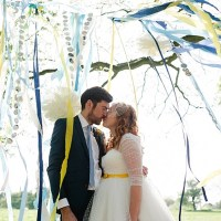 Colourful Outdoor Woodland DIY Yurt Wedding http://alexa-loy.com/