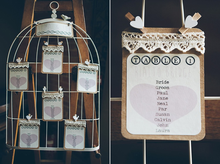 Birdcage Table Plan Seating Chart Relaxed Happy Classic Pink Afternoon Tea Wedding http://www.firsthandphotography.co.uk/