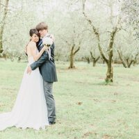 Romantic White Grey Vineyard Wedding Castelvecchio Italy http://www.emotionttl.com/