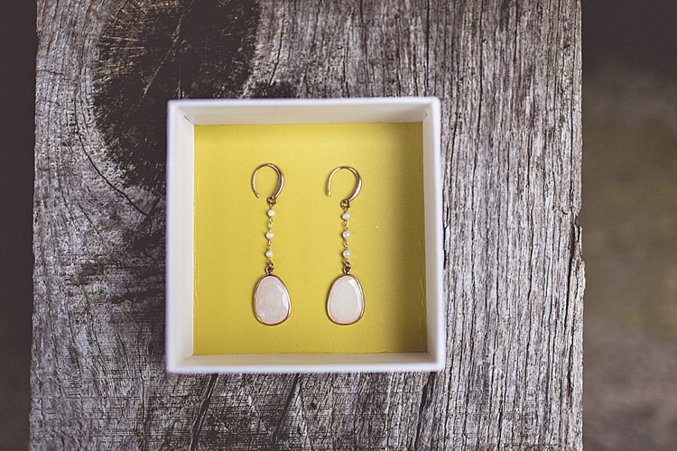 Earrings Bride Bridal Rural Rustic Relaxed Barn Wedding http://annaclarkephotography.com/