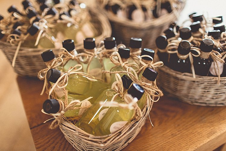 Favours Bottles Rural Rustic Relaxed Barn Wedding http://annaclarkephotography.com/