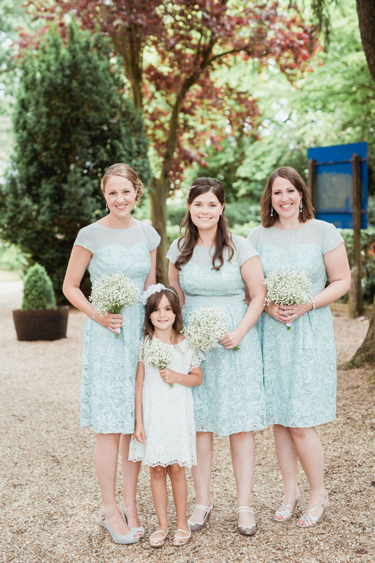 Mint Lace Bridesmaid Dresses Short English Country Farm Barn Home Made Wedding http://www.angelawardbrown.com/