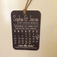 Black Board Save The Date Luggage Tag by Norma & Dorothy