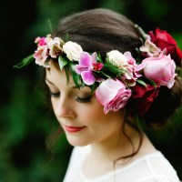 DIY Flower Crown Tutorial Bride Bridal Wedding Hair