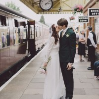 Vintage Village Hall Steam Railway Light Home Made Wedding http://www.scuffinsphotography.com/