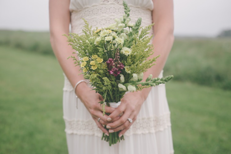 Wildflower Bouquet Bride Bridal Vintage Bohemian Red Barn Wedding Illinois http://www.ronirosephotography.com/