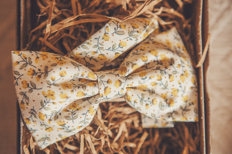 Mrs Bow Tie Quirky Relaxed Yellow Country Wedding http://www.mr-and-mrs-wedding-photography.co.uk/