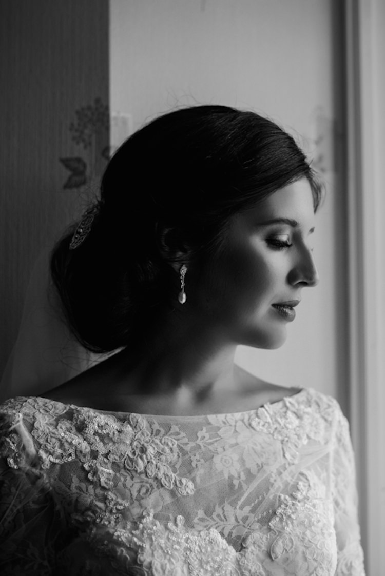 Bride Bridal Make Up Hair Chignon Style Up Do Classic Elegant Village Hall Wedding http://www.jessicaraphaelphotography.com/