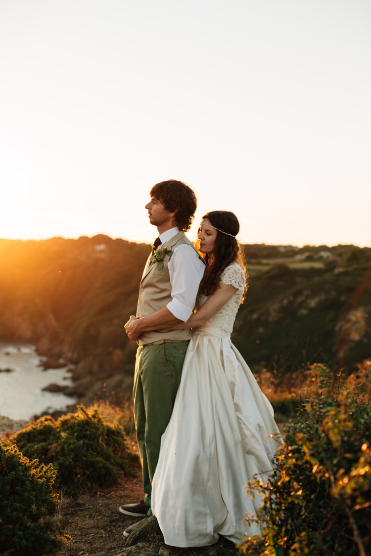 Bohemian Origami Marquee Wedding in Guernsey