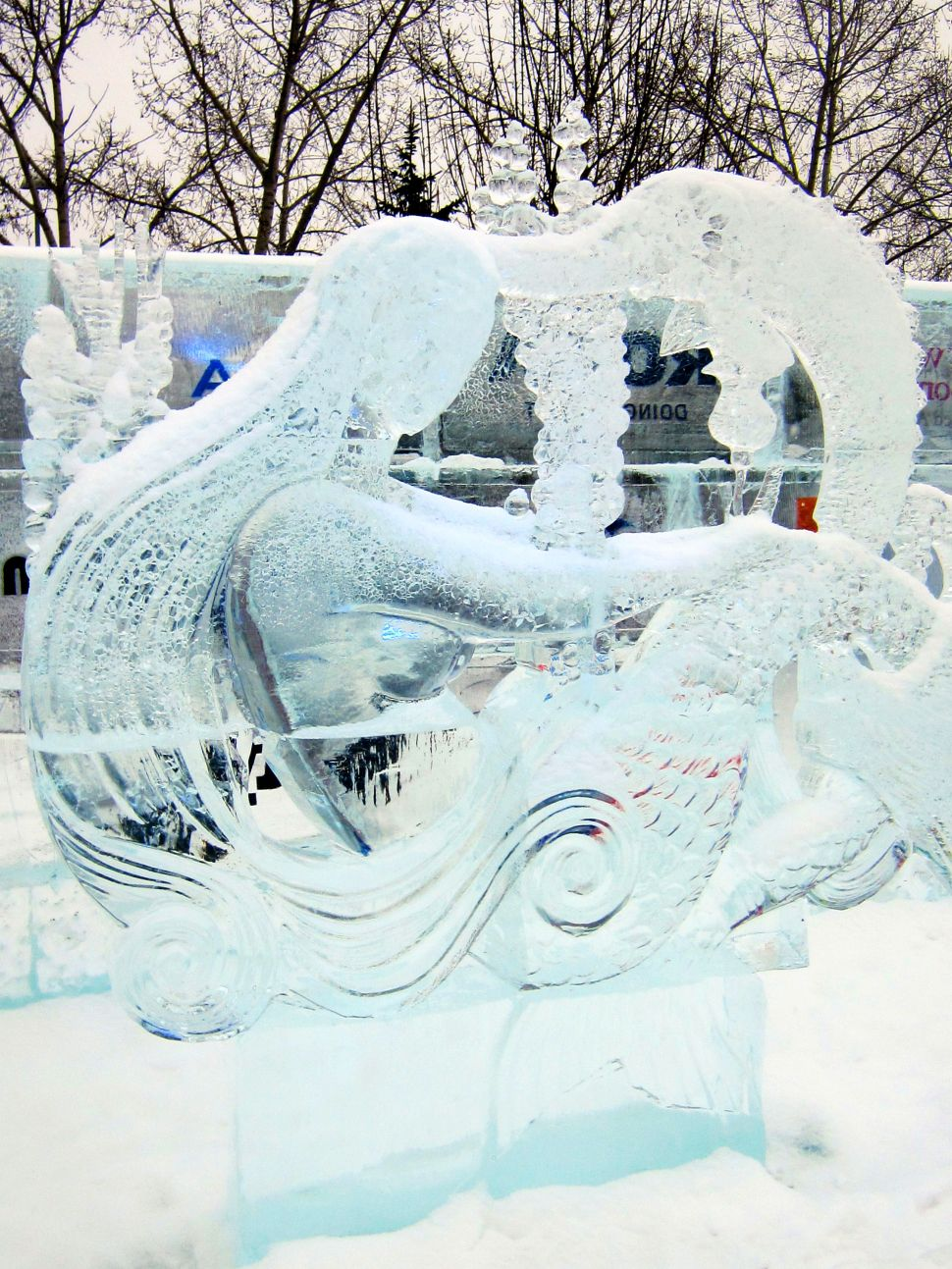 Ice on Whyte sculpture