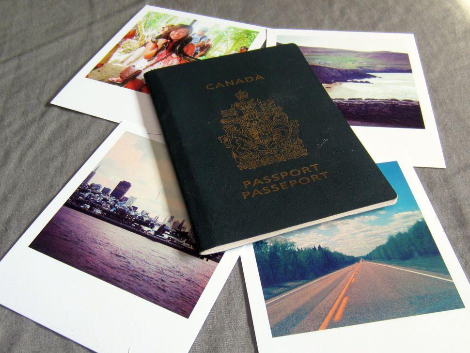 passport and instagram prints