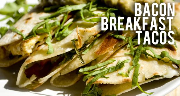 Homemade Bacon Breakfast Tacos Recipe