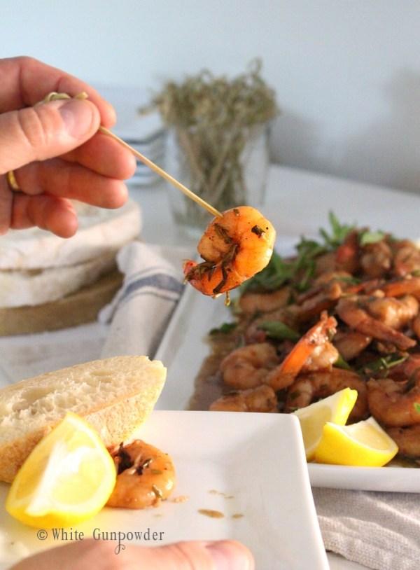 Shrimp, creole barbecue