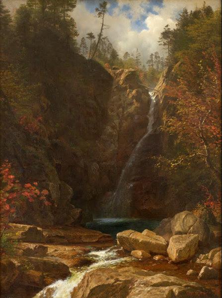 Glen Ellis Falls by Albert Bierstadt