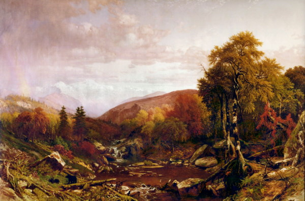 White Hills in October, Presidential Range from Israel River in Jefferson by Aaron Draper Shattuck