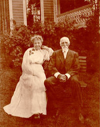 Marion Colman Shattuck and Aaron Draper Shattuck (1832-1928) on their 50th Wedding Anniversary