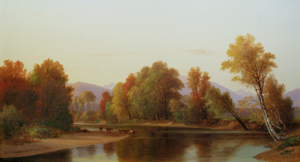 North Conway Intervale from the Saco River in Autumn by Benjamin Champney