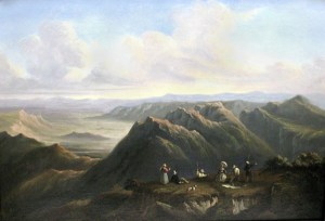 Mount Jefferson from Mount Washington (after Bartlett) attributed to Hippolyte Louis Garnier