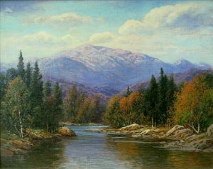 Mount Washington from the Ellis River by William F. Paskell