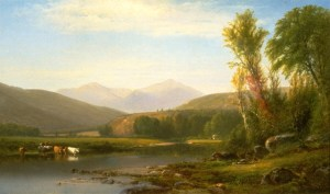 Mount Washington and Mount Madison from the Androscoggin River by William Hart