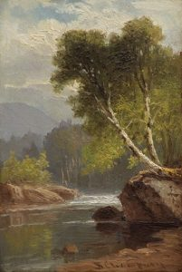 Riverside and Birches by Benjamin Champney