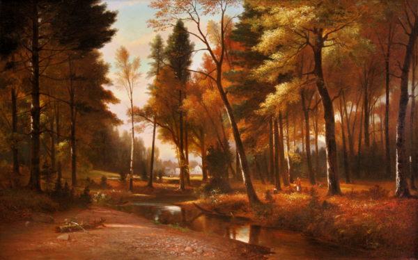 Picnic on Artist Brook by Benjamin Champney