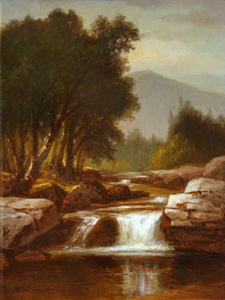 Wildcat Brook and Black Mountain, Jackson by Benjamin Champney