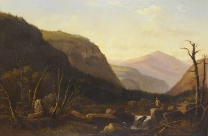 Mount Washington from behind White Horse Ledge, North Conway by Benjamin Champney