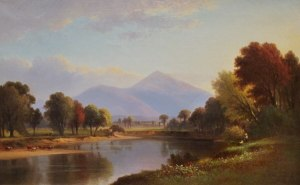 Mount Kearsarge from the Saco River, North Conway by Benjamin Champney