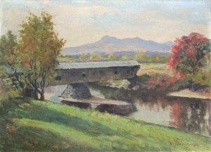 Mount Chocorua from the Saco River, Fryeburg, ME by Benjamin Tupper Newman