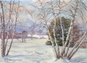 Mount Kearsarge from Fryeburg, ME by Benjamin Tupper Newman