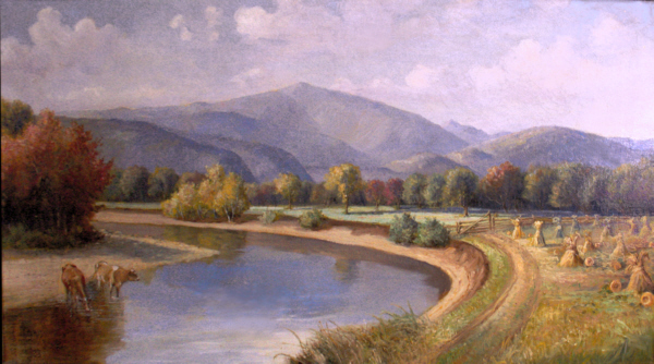 Mount Washington from the Saco River by Delbert Dana Coombs