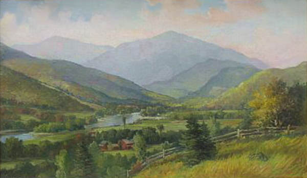 Mount Madison from Shelburne by Delbert Dana Coombs