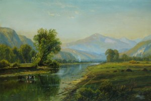 Mount Washington and the Saco River from the Intervale by Edmund Darch Lewis