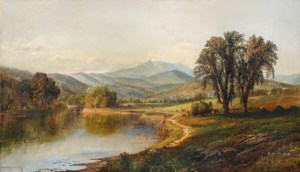 Mount Washington from the Saco River, North Conway by Edmund Darch Lewis