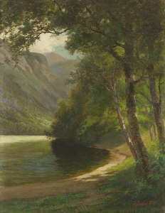 Eagle Cliff from Echo Lake, Franconia Notch by Edward Hill