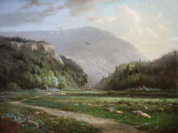 Elephant's Head and Mount Webster, Crawford Notch by Edward L. Custer
