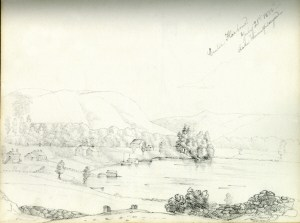 Centre Harbour: July 21st 1833 -- Lake Winnipiseogee [sic] by Frances Elizabeth Appleton Longfellow