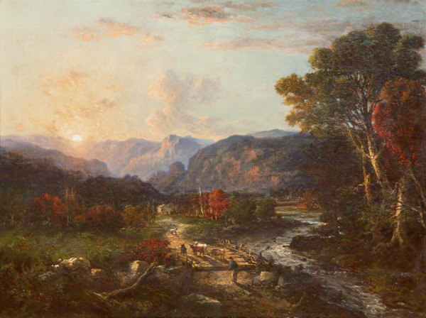 Moose River on the Road to Gorham by George Loring Brown