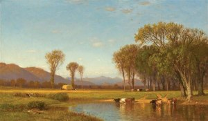 Mount Washington from the North Conway Intervale by Samuel Colman, Jr.
