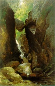 The Flume with Boulder by Samuel Lancaster Gerry