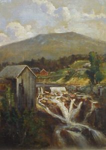 Goodrich Falls on the Ellis River by Thaddeus Defrees