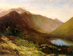Mount Lafayette and Echo Lake from Artist Bluff by Thomas Hill